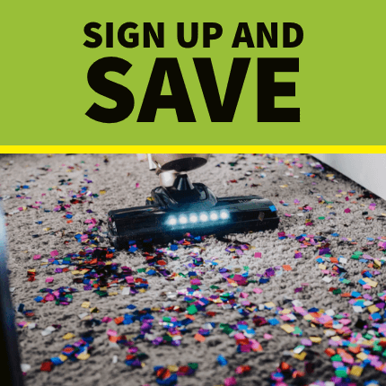 Sign up for the house cleaning newsletter and save